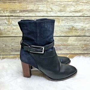 Clarks Shoes - Clarks Artisan Kacia Garnet Navy Leather Boots